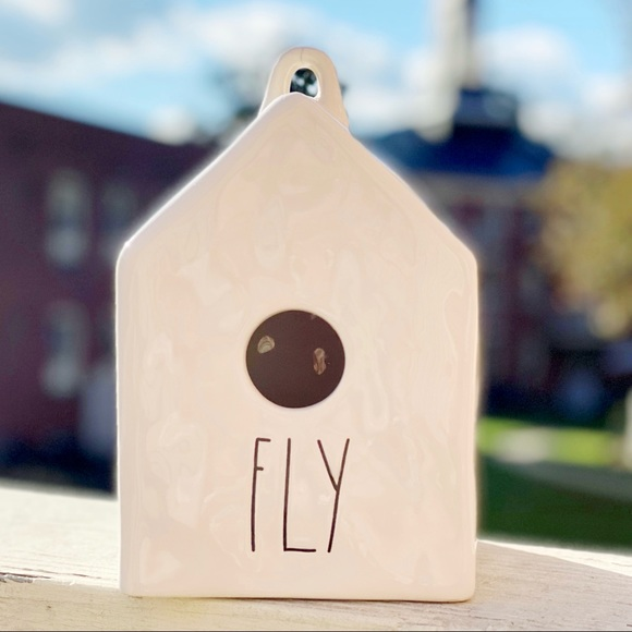 RARE Rae Dunn by Magenta Fly Ceramic Birdhouse